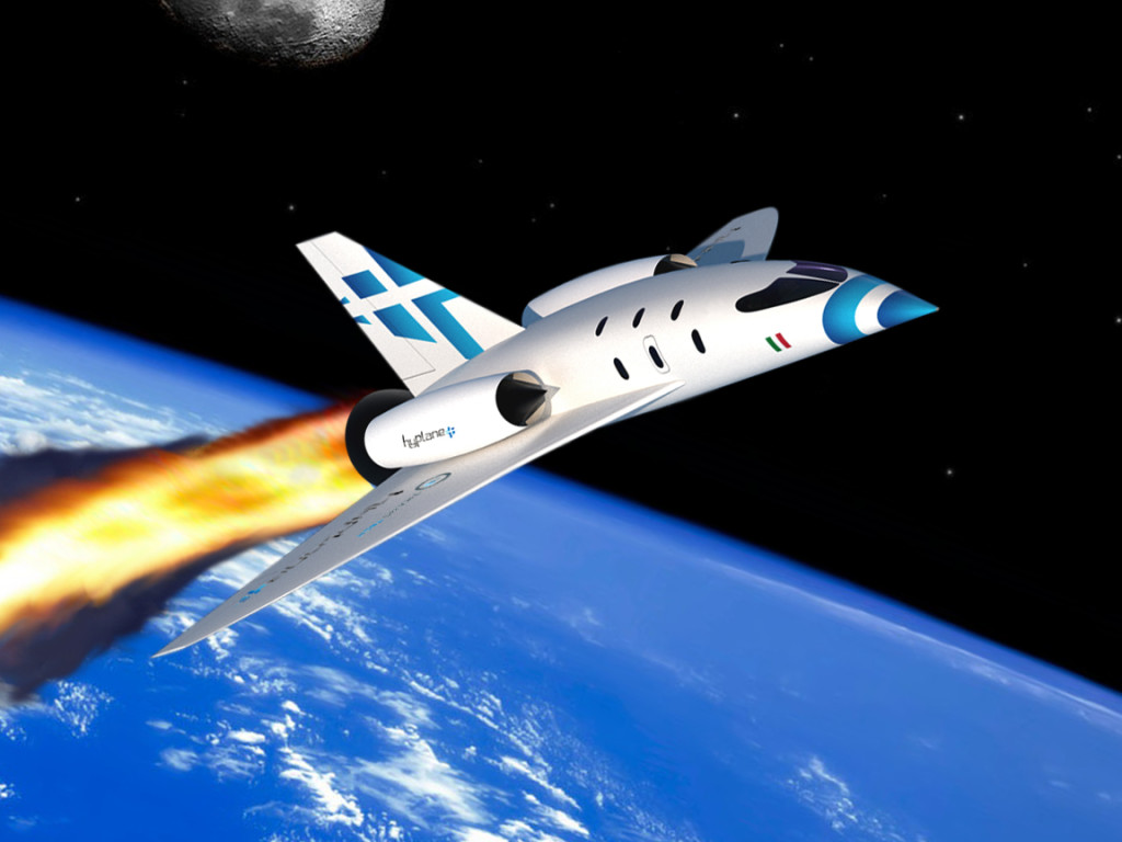 """Progetto NearSpacExplo. Spazioplano suborbitale """"HyPlane"""""""