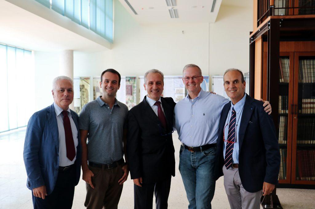 Il Center for Near Space incontra la NASA da sinistra: Vincenzo Torre, Roberto Paura, Gennaro Russo, Roger Hunter, Raffaele Savino