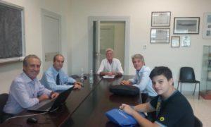 Riunione a settembre del comitato direttivo del Center for Near Space con Mattia Barbarossa (a destra).